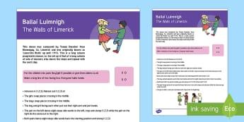 Ballaí Luimnigh / The Walls of Limerick Céilí Dance Step-by-Step Instructions - ROI - Irish Language Week Gaeilge Resources - 1st-17th March, Seachtain na Gaeilge, Irish Language W