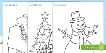 Winter Topic Coloring Display Posters - winter, color, posters, fine motor skills, art