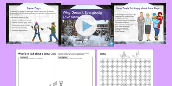 Why Doesn't Everybody Love Snow Days? Debate Pack  - winter, school, holiday, weather, ks3, discussion, form period
