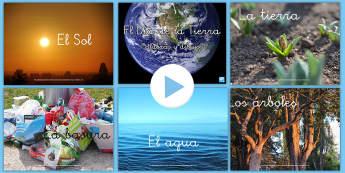 Presentación: Palabras y dibujos - El Día de la Tierra - día de la Tierra, vocabulario, presentación, reciclar, reutilizar, powerpoint, power point, la tie