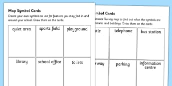 Map Symbol Worksheets - map symbols, maps worksheet, maps, reading maps, ordnance survey, ordnance survey worksheet, ks2 geography, ks2 maps, mapping, ks2
