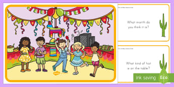 Cinco de Mayo Scene and Question Cards - Cinco de Mayo, Observation, Visual Aide, Cinco de Mayo Celebration, Mexico, Holiday