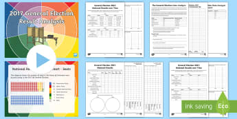 General Election 2017 Statistics Activity Pack - votes, conservatives, hung, government, parliament, labour, prime minister, result