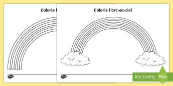 Feuille d'activités : Colorie l'arc en ciel - Couleurs, colours, Cycle 1, colorier, coloriage, arc-en-ciel, rainbow, colouring, cycle 2, seasons,F