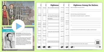 Righteous Among Nations WW2 Lesson Pack - CfE Social Studies resources, righteous among the nations, jewish, jews, Judaism, world war two, ww2
