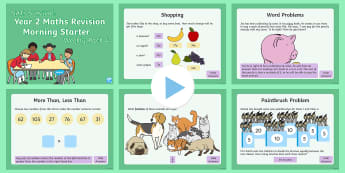 SATs Survival Year 2 Maths Revision Morning Starters (4) PowerPoint - SATs Survival Materials Year 2, SATs, assessment, 2017, English, SPaG, GPS, grammar, punctuation, sp