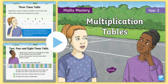 Year 3 Multiplication Tables Maths Mastery PowerPoint - Reasoning, Greater Depth, Abstract, Problem Solving, Explanation, y3, ks2
