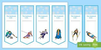 Winter Olympics Bookmarks - winter, olympics, bookmark, award