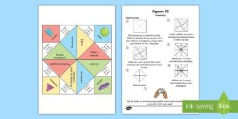 Comecocos: Figuras 3D - comecocos, figuras geométricas, figuras 3D, cuerpos geométricos, caras, aristas, vértices, propie