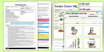 Bean Planting Activity EYFS Adult Input Plan and Resource Pack to Support Teaching on Jasper's Beanstalk - Nick Butterworth, butter beans, cake
