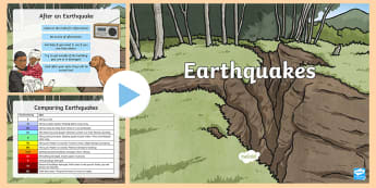 Earthquakes PowerPoint - earthquakes, seismic, Powerpoint, natural disasters