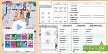 Year 6 Term 1B Week 1 Spelling Pack - Spelling Lists, Word Lists, Autumn Term, List Pack, SPaG