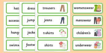 Clothes Shop Labels - australia, Clothes shop Role Play, clothes shop resources, shop, till, buy, money, clothes, ourselves, shoes, role play, display, poster