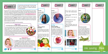 Guild of Food Writers & Pink Lady® Apples - Write It 2018 Activity Pack - writing, create, food, english, ks2,. ks3, ks4, competition, cookery, home economics, nutrition