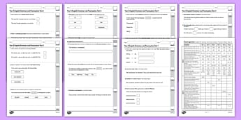 Year 5 English Grammar and Punctuation Practice Test Pack - test