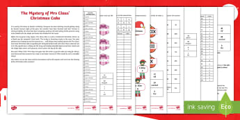 LKS2 The Mystery of Mrs Claus' Christmas Cake Maths Game - christmas, christmas mystery maths, festivals, father christmas, problem solving