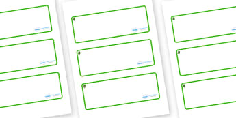 Beech Themed Editable Drawer-Peg-Name Labels (Blank) - Themed Classroom Label Templates, Resource Labels, Name Labels, Editable Labels, Drawer Labels, Coat Peg Labels, Peg Label, KS1 Labels, Foundation Labels, Foundation Stage Labels, Teaching Labels