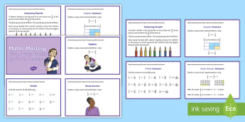 Year 6 Fractions Divide Maths Mastery Question Cards - Year 6 Maths Mastery, Year 6, Y6, fractions, equivalence, divide, division