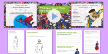 What Superpower Would You Choose? Debate Pack - super, hero, power, ks3, discussion, form. period