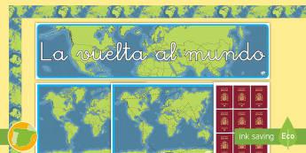 Pack de exposición: Recompensas por el mundo - mundo, globo, premios, mapa, geografía, decoración,Spanish