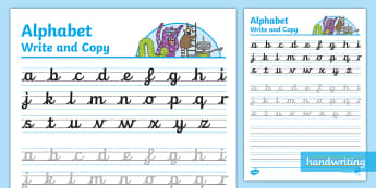 The Journey to Continuous Cursive Alphabet Write & Copy Activity Sheet - nelson handwriting, handwriting, penpals, letterjoin, joined, worksheet, handwriting intervention
