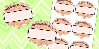 Brilliant Brains Editable Self-Registration Labels - Smart, Label