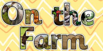 On the Farm Photo Display Lettering - on the farm, photo, letters