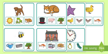Rhyming Match Clip Cards - phonological awareness, EYFS,  Word families, Center Activity, Independent Activity