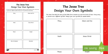 The Jesse Tree Activity Sheet-Irish - Christmas, Advent, Jesse Tree,Irish, worksheet