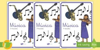 Separadores de álbumes: Música - álbum, fin de curso, dividir, tapa de álbumes, tapas, asignaturas, trimestre