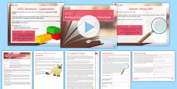 Introduction to the Reading AOs: AO2 Lesson Pack - GCSE skills, language, structure, fiction, non-fiction, pre 1900
