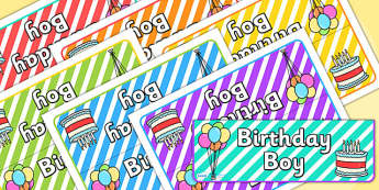 Birthday Boy Foldable Tabletop Sign - birthday, birthday boy, tabletop signs, foldable signs, birthday signs, class management, behaviour management