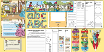 World Book Day Whole School Traditional Tales Themed Day Activity Pack - wbd 2018, school wide event, assembly, fairy tale day, authors, reading, quiz, fun activities, world