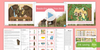 'Boucle d'or et les trois ours' Differentiated Resource Pack French - Goldilocks, Bears, literature, tale, conte, littérature, ,French