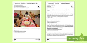 Customs and Festivals 1 Foundation Tier Photo Card Activity Spanish - Spanish, Speaking, Practice, photo, card, activity, oral, foundation, tier, customs, festivals, cele