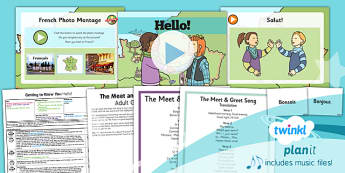 French: Getting to Know You: Hello! Year 3 Lesson Pack 1