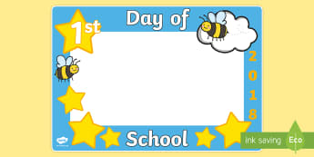 First Day of School 2018 Photo Booth Frame Cut-Outs  - First Day of School Photo Booth Frame Cut-Outs - snapchat, photo booth, props, camera, graduation, p