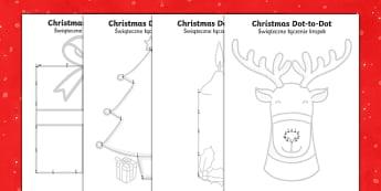 Christmas Dot to Dots Polish Translation-Polish-translation - Christmas Dot to Dots - christmas, dot to dot, game, activity, festival, celebration, holiday,chritm