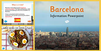 Barcelona Information PowerPoint - barcelona, information, info