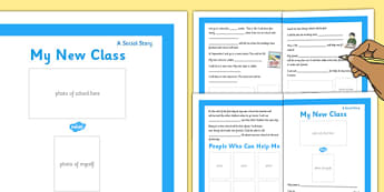 My New Class Social Situation Primary Personalised - new class, social story