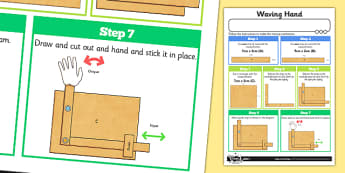 Making Levers and Linkages: Waving Hand Activity Sheet - Go Green, Eco, recycle, warrior, environment, worksheet