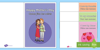 Happy Mother's Day Mummies Greetings Cards English/French - mummy, mum, mummies, mom, mummy's day, mother's day, same-sex, mother, mothers day, mother's, day