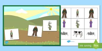 Jack and the Beanstalk Barrier Game Activity Sheet - Barrier Games, EAL, SEN, speaking and listening, barrier, instructions, describe, descriptions, work