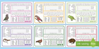 New Zealand Desk Mat - New Zealand Back to School, nz, maori, te reo, days of week, seasons, months, alphabet, numbers,