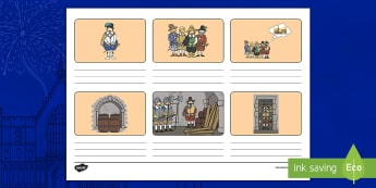 Guy Fawkes and the Gunpowder Plot Storyboard Template - Story, Writing, Literacy, Guido Fawkes, Key Stage One, Recount, Bonfire Night,