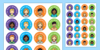 Good Friend Stickers - EYFS, Early Years, KS1, reward stickers, friendship, PSED