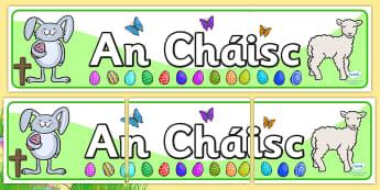 Easter Display Banner Irish - easter, easter display, religion , Gaeilge