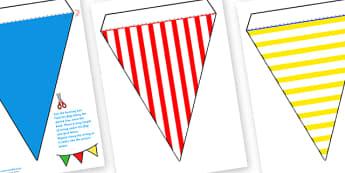 Seaside Bunting (Patterns) - seaside bunting, seaside, patterned bunting, patterns bunting, seaside patterns bunting, seaside patterned bunting, bunting