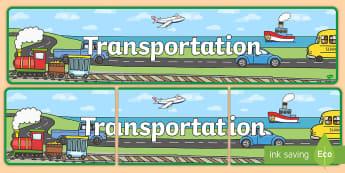 Transportation Display Banner - transportation, display banner, USA transportation, vehicles, things that move