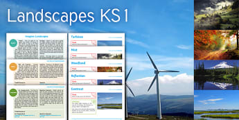 Imagine Landscape KS1 Resource Pack - turbines, mist, woodland, reflection, contrast, maths, position and direction, positional language,